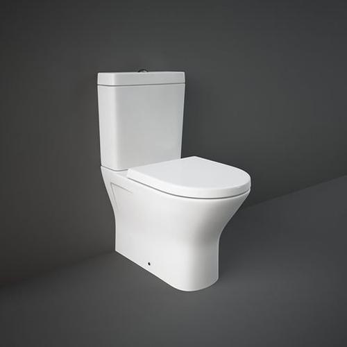 RAK Resort Mini Close Coupled Fully Back to Wall WC Pan, Cistern and Soft Close Seat