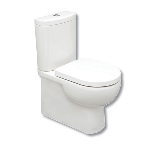 Back To Wall Close Coupled Pan, Cistern & Seat - C10 By Voda Design