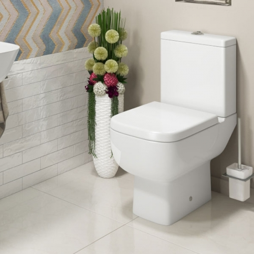 Voda Design Close Coupled WC Toilet & Soft Close Seat