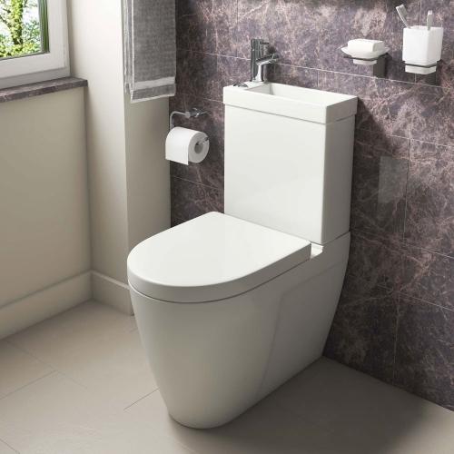 Cloakroom Toilet & Basin Combination Unit - 2 in 1