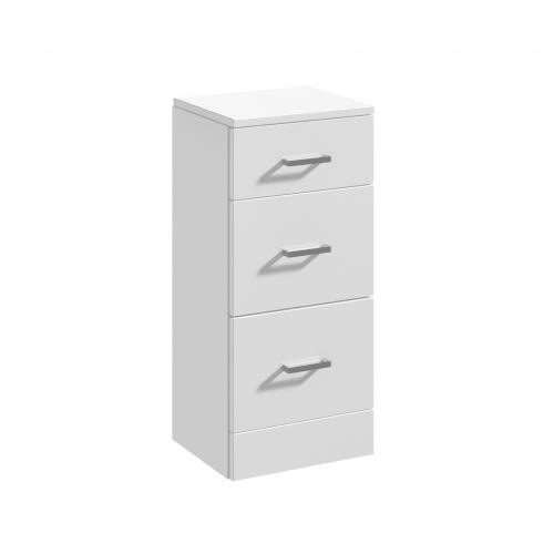 Blanco High Gloss White 350 x 300mm 3 Bathroom Drawer Unit