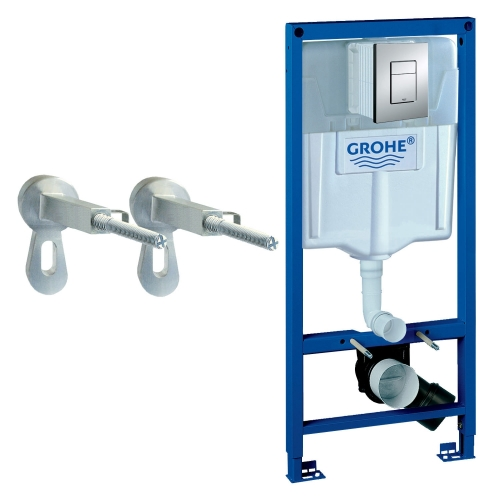 Grohe 38772001 Rapid SL 1.13m 3 in 1 Set Support Frame for Wall Hung WC