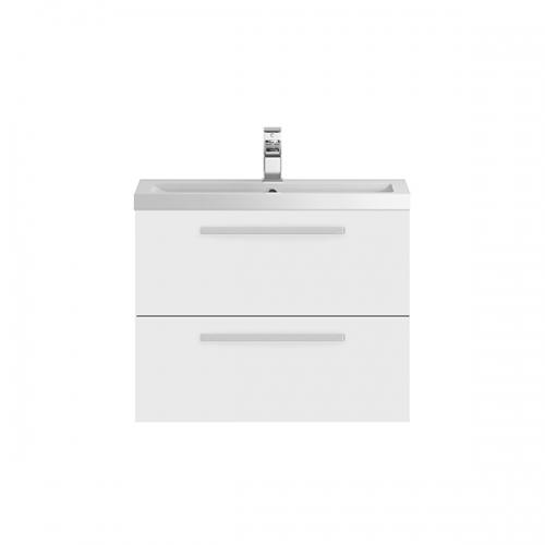 Hudson Reed Quartet Gloss White 720 mm Cabinet & Basin - QUA005
