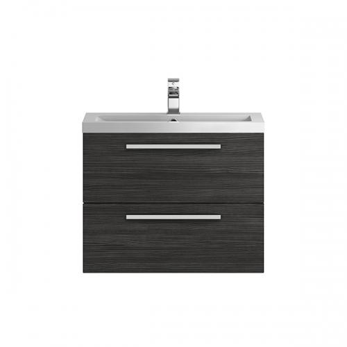 Hudson Reed Quartet Hacienda Black 720 mm Cabinet & Basin - QUA007