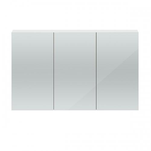 Hudson Reed Gloss White Quartet 1350mm Wall Hung Mirror Cabinet - QUA009