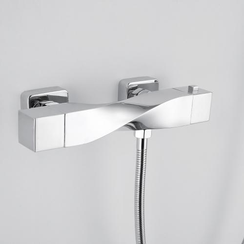 RAK Ceramics Reserva Wall Mounted Thermostatic Bath Shower Mixer Tap with Slider Rail Kit and Handset