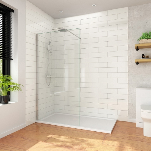 Walk In Shower Enclosure/Wetroom (8mm Glass).  Incl. Panels & Shower Tray