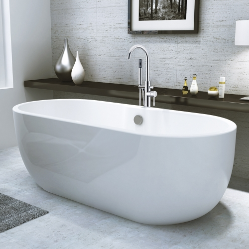 Freestanding Modern Double Ended Bath - Manhattan by Voda Design.