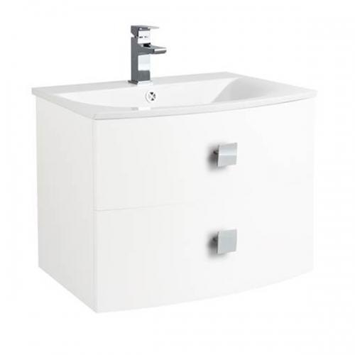 Hudson Reed Sarenna Textured White Wall Hung 700mm Cabinet and Basin - SAR117