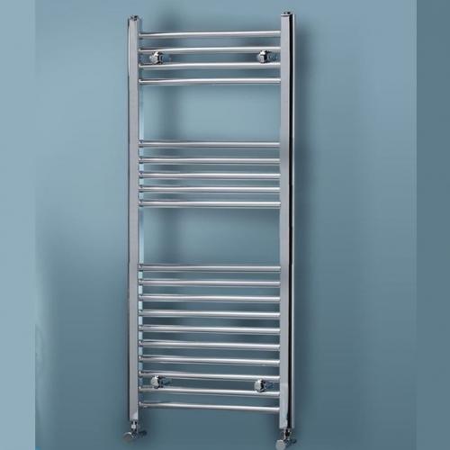 Straight Chrome Heated Towel Rail - Aura by Voda Design