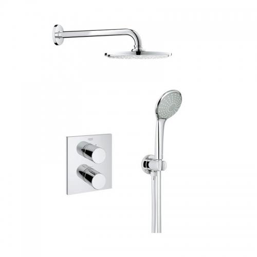 Grohtherm 3000 Mixer Shower with Rainshower Head - Cosmopolitan Perfect shower set 210
