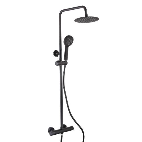 Black Round Complete Shower by Voda Design