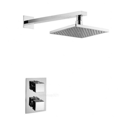Square Fixed Head Thermostatic Concealed Shower