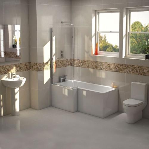 L Shape Shower Bath Suite