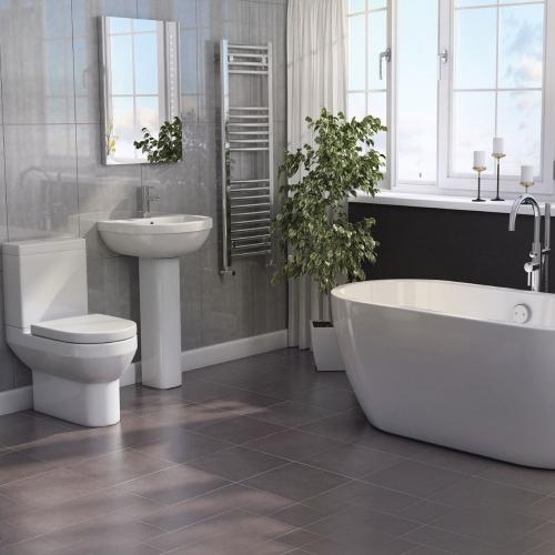 Modern Bathroom Suite with Freestanding Bath
