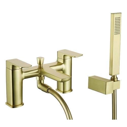 Brushed Brass Bath Shower Mixer - By Voda Design