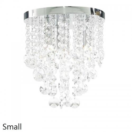 Ophelia Chrome/Crystal Drop Ceiling Light