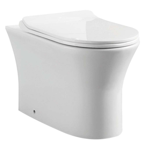 Back To Wall Rimless Toilet & Soft Close Seat - F10 By Voda Design