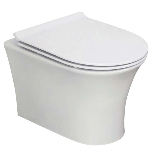 Wall Hung Rimless Toilet & Soft Close Seat - F10 By Voda Design