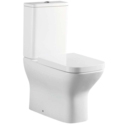 Fully Back To Wall Close Coupled Toilet With Cistern & Soft Close Seat - V10 By Voda Design