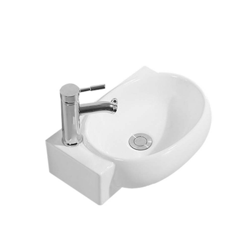 420mm Left Hand 1 Tap Hole Wall Hung Basin - By Voda Design