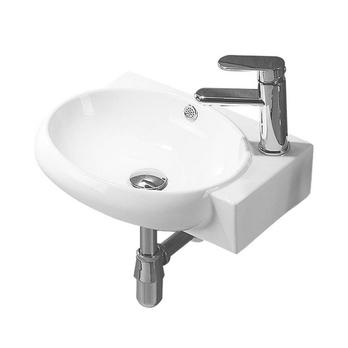 420mm Right Hand 1 Tap Hole Wall Hung Basin - By Voda Design