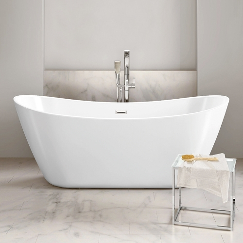 Freestanding Modern Double Ended Bath, 1700, 1800 - Rose By Voda Design
