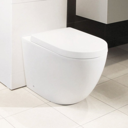 Synergy Maya Round Back To Wall Toilet & Seat