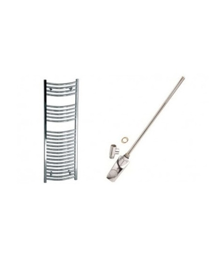 Thermostatic Curved Electric Heated Towel Rail