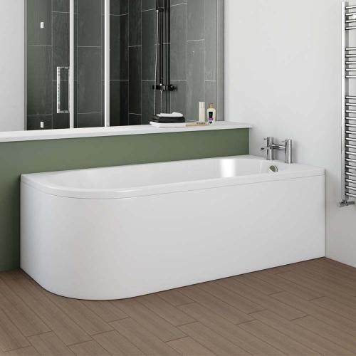 J Shape Bath & Panel - Made In Britain - J By Voda Design