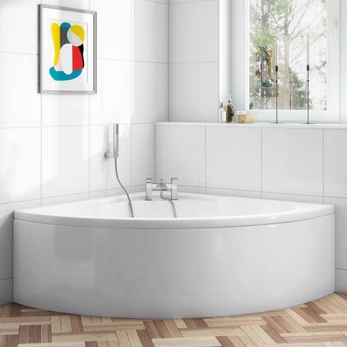 Allure Corner Bath & Panel - Sizes: 1200mm, 1350mm & 1450mm