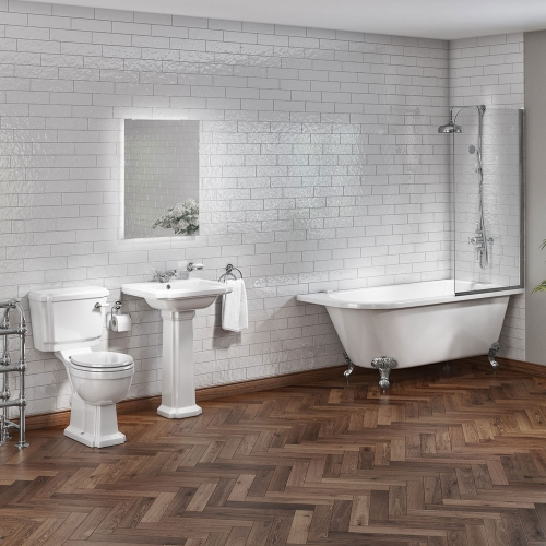 Traditional 1700mm Shower Bath Suite - Rochester