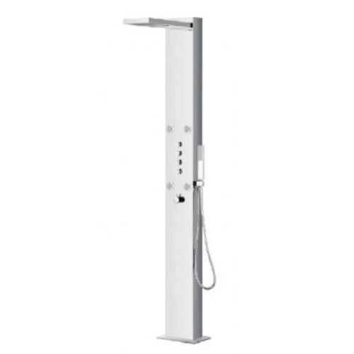 Deluxe Stainless Steel Floor Standing Shower Panel - Sanctuary by Voda Design