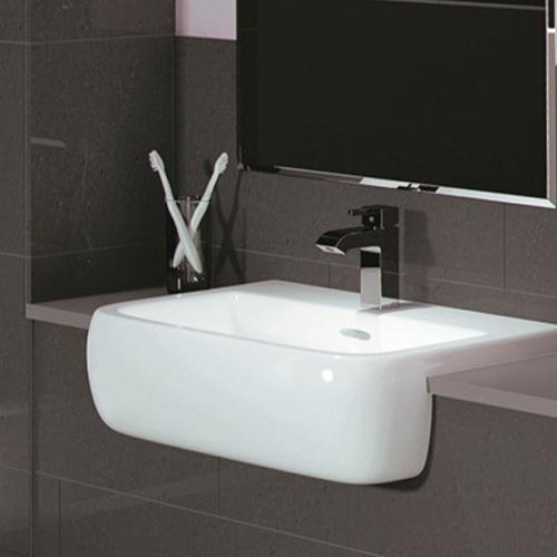 520mm 1 Tap Hole Semi-Recessed Basin - R10 By Voda Design