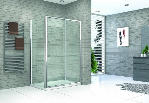 Framed Sliding Shower Door - Kaso 8 by Voda Design (8mm Thick)