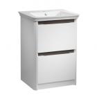 Tavistock Equate 600 Freestanding Grey Oak Basin Vanity Unit