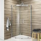 Frameless Quadrant Enclosure With Sliding Doors - Kaso 8 By Voda design