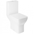 Close Coupled Rimless Open Back Toilet, Cistern & Seat - V10 By Voda Design