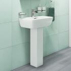 520mm 1 Tap Hole Basin & Pedestal - R10 By Voda Design