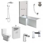 L Shape Shower Bath Suite Inc. Vanity Unit - Elite