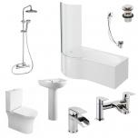 P Shape Shower Bath Suite - Zeya