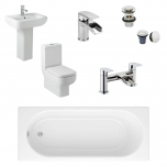 Complete Standard Bathroom Suite - Cascade