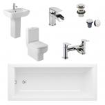 Complete Standard Bathroom Suite - Elite Solo