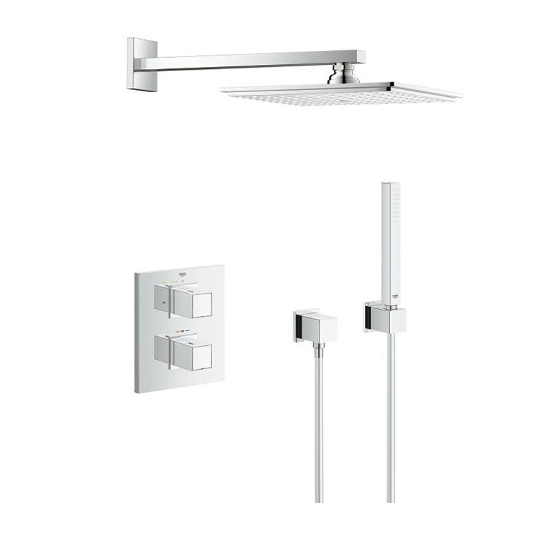 Grohtherm Cube Mixer Shower With Rainshower Allure 230